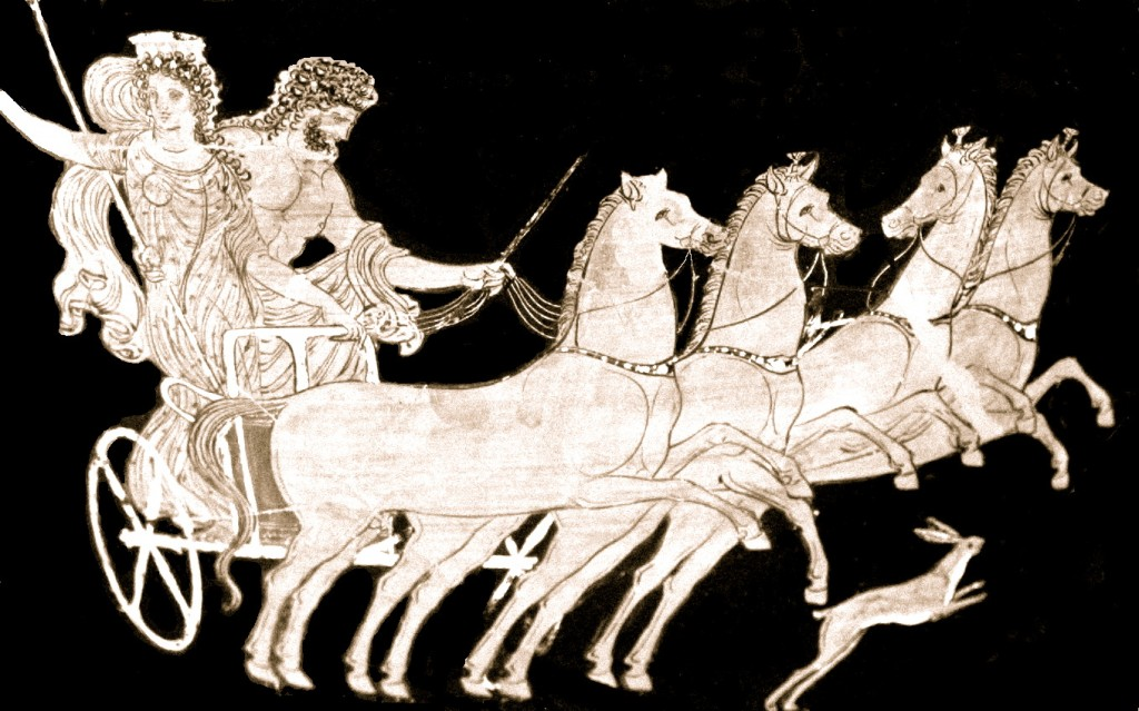 Hades carrying off Persephone
