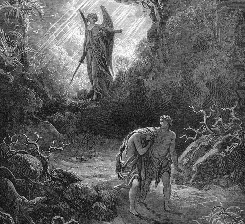 Adam and Eve leaving the Garden of Eden
