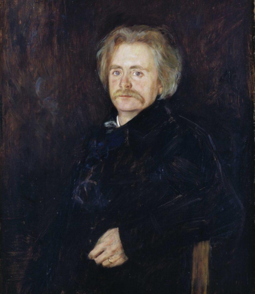 Painting by Hans Heyerdahl of Edvard Grieg