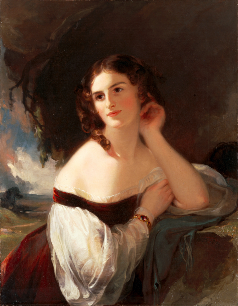 Painting by Thomas Sully of actress Fanny Kemble